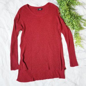 Volcom True to This Red High Low Knit Crew Sweater